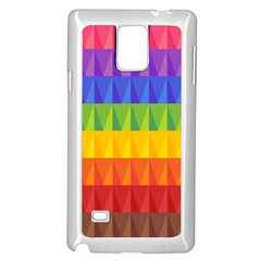 Abstract Pattern Background Samsung Galaxy Note 4 Case (White)