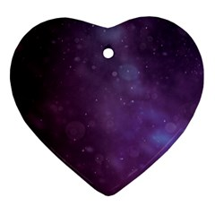 Abstract Purple Pattern Background Ornament (Heart)