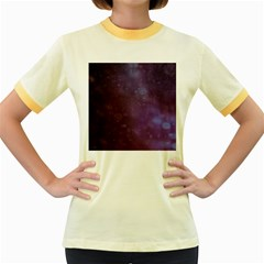 Abstract Purple Pattern Background Women s Fitted Ringer T-Shirts