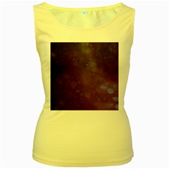 Abstract Purple Pattern Background Women s Yellow Tank Top