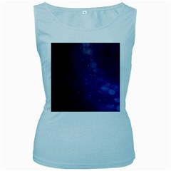 Abstract Purple Pattern Background Women s Baby Blue Tank Top