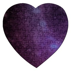 Abstract Purple Pattern Background Jigsaw Puzzle (Heart)