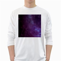 Abstract Purple Pattern Background White Long Sleeve T-Shirts