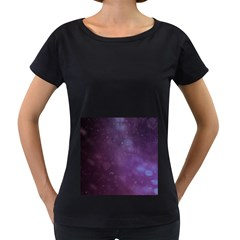 Abstract Purple Pattern Background Women s Loose Fit T Shirt (black)