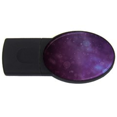 Abstract Purple Pattern Background USB Flash Drive Oval (4 GB)