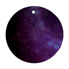 Abstract Purple Pattern Background Round Ornament (Two Sides)