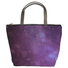 Abstract Purple Pattern Background Bucket Bags