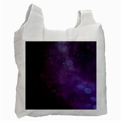 Abstract Purple Pattern Background Recycle Bag (Two Side)