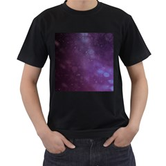 Abstract Purple Pattern Background Men s T Shirt (black)