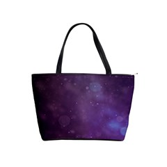 Abstract Purple Pattern Background Shoulder Handbags