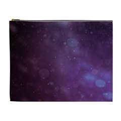 Abstract Purple Pattern Background Cosmetic Bag (XL)