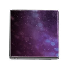 Abstract Purple Pattern Background Memory Card Reader (square)