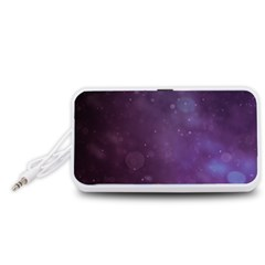 Abstract Purple Pattern Background Portable Speaker (White)
