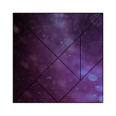 Abstract Purple Pattern Background Acrylic Tangram Puzzle (6  X 6 )
