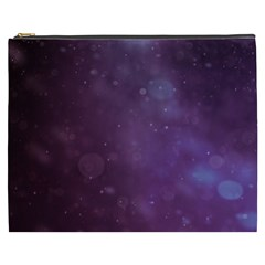 Abstract Purple Pattern Background Cosmetic Bag (xxxl)