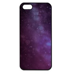 Abstract Purple Pattern Background Apple Iphone 5 Seamless Case (black)