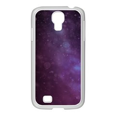 Abstract Purple Pattern Background Samsung GALAXY S4 I9500/ I9505 Case (White)