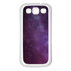 Abstract Purple Pattern Background Samsung Galaxy S3 Back Case (White)