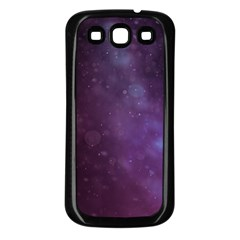Abstract Purple Pattern Background Samsung Galaxy S3 Back Case (Black)