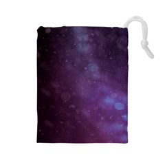 Abstract Purple Pattern Background Drawstring Pouches (Large)