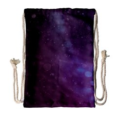 Abstract Purple Pattern Background Drawstring Bag (large)