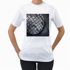 Architecture Roof Structure Modern Women s T Shirt (white) (two Sided)