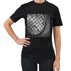 Architecture Roof Structure Modern Women s T-Shirt (Black)