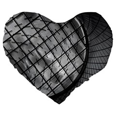Architecture Roof Structure Modern Large 19  Premium Heart Shape Cushions