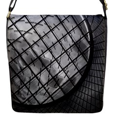 Architecture Roof Structure Modern Flap Messenger Bag (S)