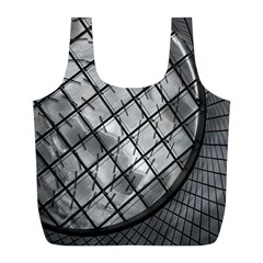 Architecture Roof Structure Modern Full Print Recycle Bags (l)