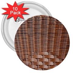 Armchair Folder Canework Braiding 3  Buttons (10 pack)