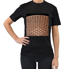 Armchair Folder Canework Braiding Women s T-Shirt (Black)