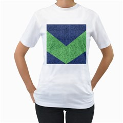 Arrow Texture Background Pattern Women s T-Shirt (White) (Two Sided)