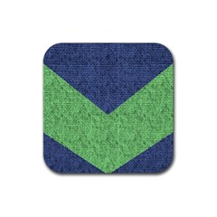 Arrow Texture Background Pattern Rubber Square Coaster (4 pack)