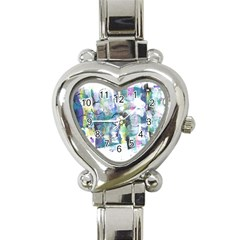 Background Color Circle Pattern Heart Italian Charm Watch