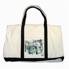 Background Color Circle Pattern Two Tone Tote Bag
