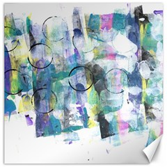 Background Color Circle Pattern Canvas 20  X 20