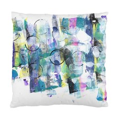 Background Color Circle Pattern Standard Cushion Case (One Side)