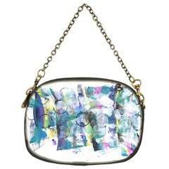 Background Color Circle Pattern Chain Purses (Two Sides)
