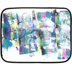 Background Color Circle Pattern Fleece Blanket (mini)