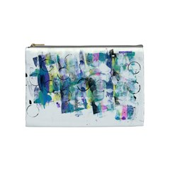 Background Color Circle Pattern Cosmetic Bag (Medium)