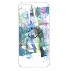 Background Color Circle Pattern Apple iPhone 5 Seamless Case (White)