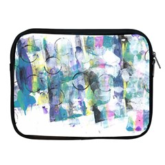 Background Color Circle Pattern Apple Ipad 2/3/4 Zipper Cases