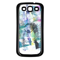 Background Color Circle Pattern Samsung Galaxy S3 Back Case (Black)