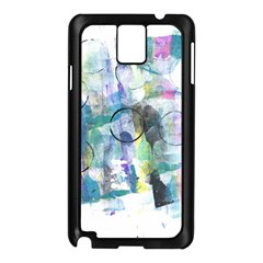 Background Color Circle Pattern Samsung Galaxy Note 3 N9005 Case (Black)