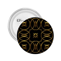 Black And Gold Pattern Elegant Geometric Design 2.25  Buttons