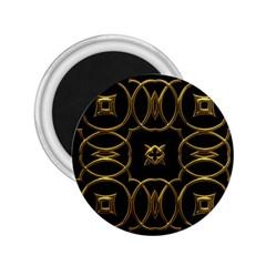 Black And Gold Pattern Elegant Geometric Design 2.25  Magnets