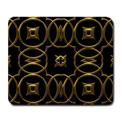 Black And Gold Pattern Elegant Geometric Design Large Mousepads