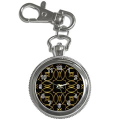 Black And Gold Pattern Elegant Geometric Design Key Chain Watches