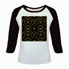 Black And Gold Pattern Elegant Geometric Design Kids Baseball Jerseys
